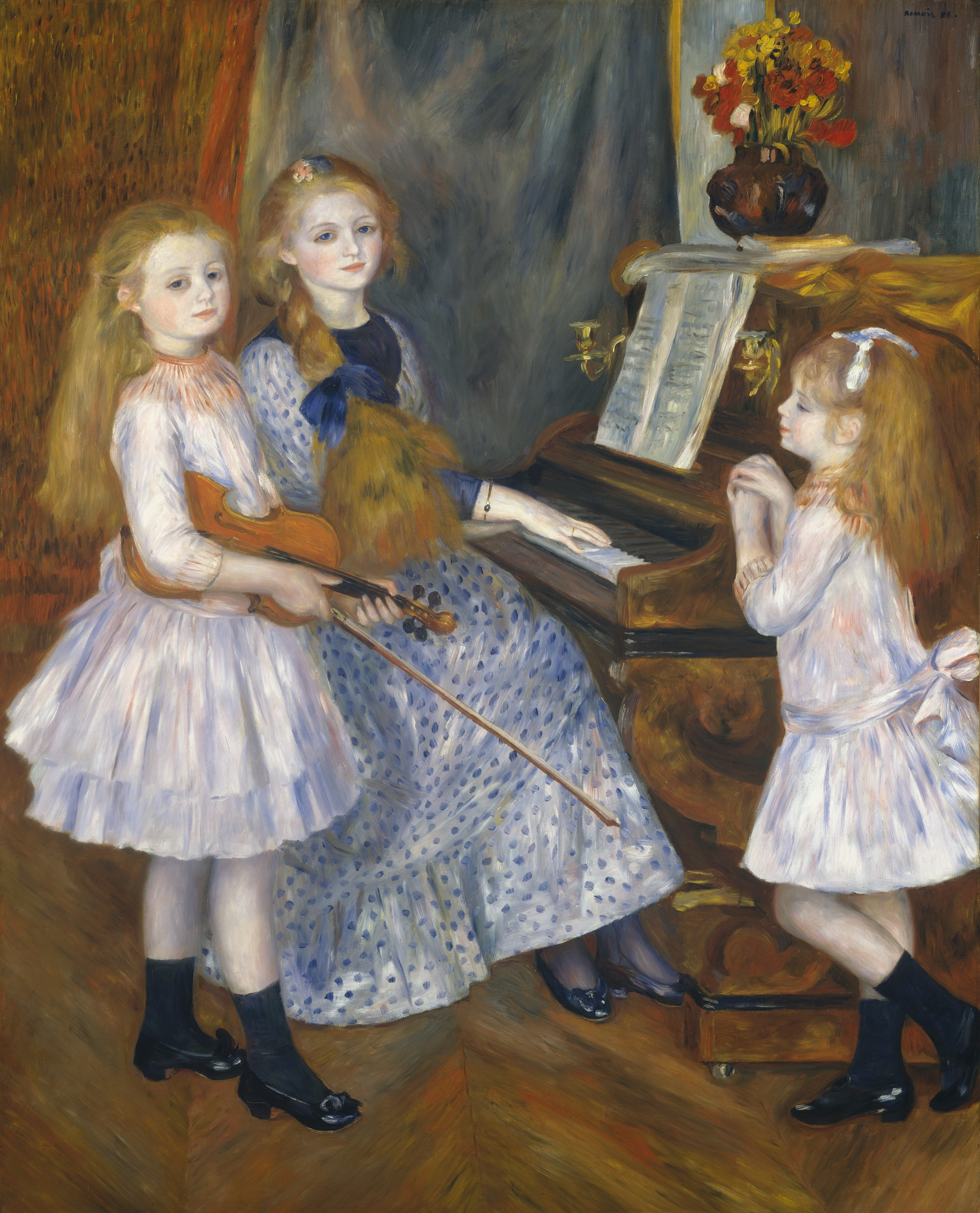 The Daughters of Catulle Mendès by Pierre Auguste Renoir, 1888