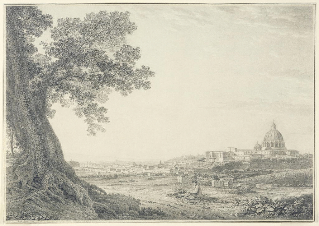 A View of Rome by Giovanni Battista Lusieri, 1780