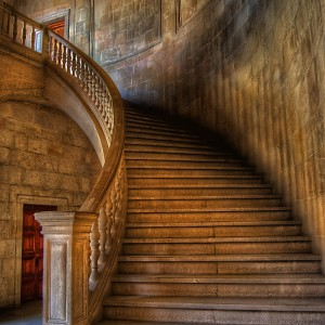 The Stair of Carlos V by Juan Lois
