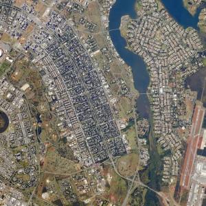 National Stadium of  Brasília, World Cup Soccer 2014, via NASA