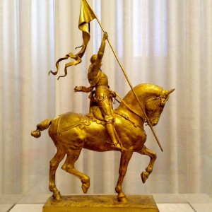 Joan of Arc, Gilded Bronze, by  Emmanuel Frémiet, 1874