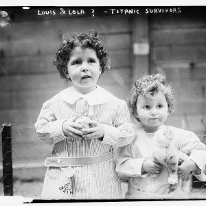 Children Rescued from The RMS Titanic, April 1912