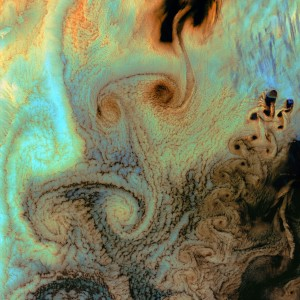 Earth from Space: Von Karman Vortices by NASA