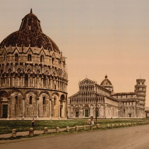 The Leaning Tower, Pisa, Italy, in the 1890s