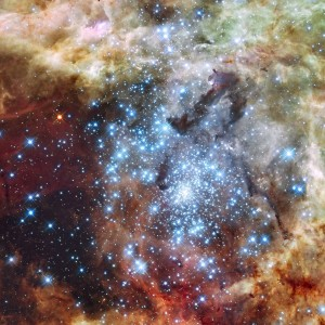 When Star Clusters Collide: The 30 Doradus Nebula