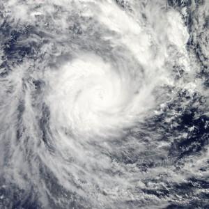Cyclone Evan over the Fiji Islands, December 2012