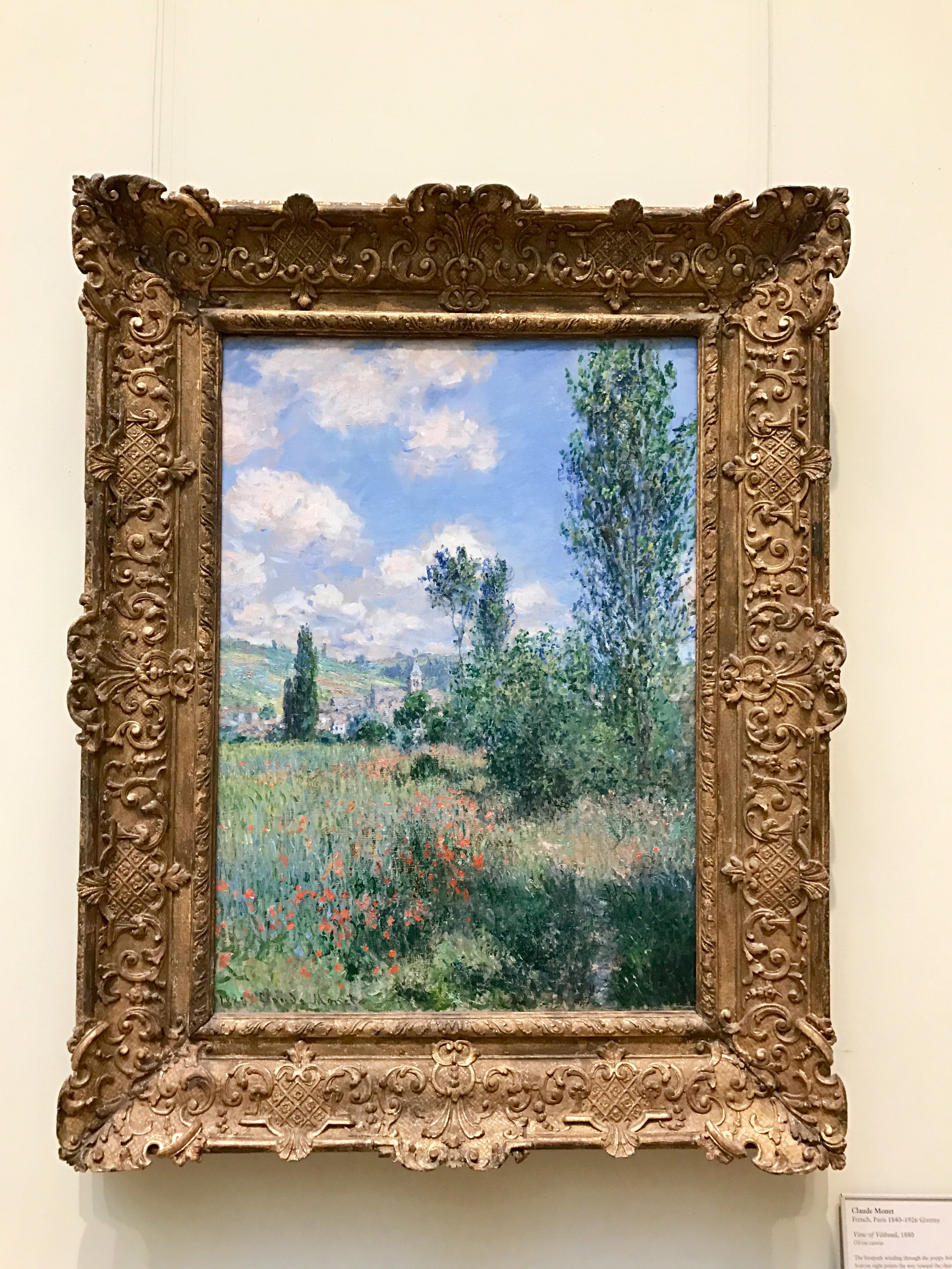 Lane in the Poppy Fields, View of Vétheuil, by Claude Monet, 1880, my photo, framed