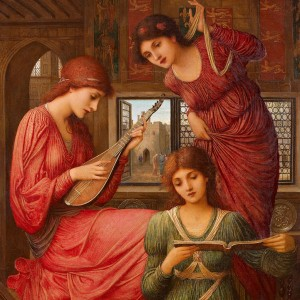 In the Golden Days by John Melhuish Strudwick, 1907