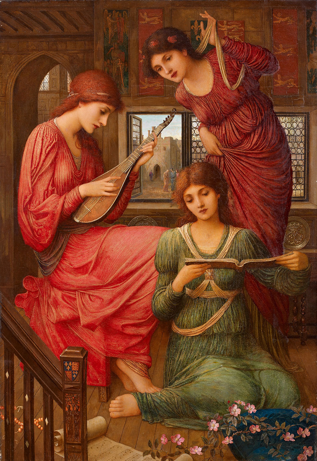 In the Golden Days, by John Melhuish Strudwick, 1907