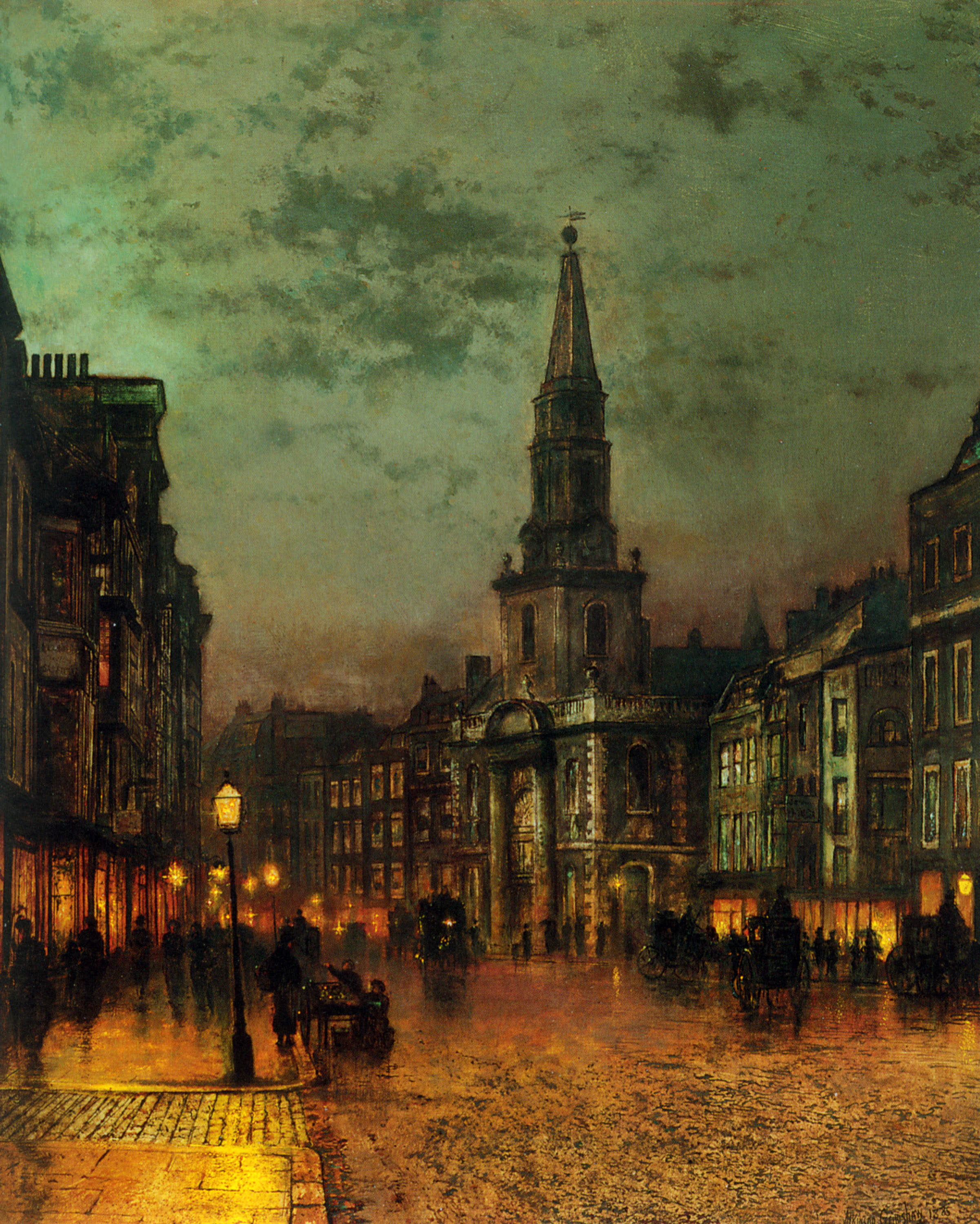 Blackman Street, London, by John Atkinson Grimshaw, 1885
