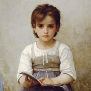 La Leçon Difficile by William-Adolphe Bouguereau, 1884