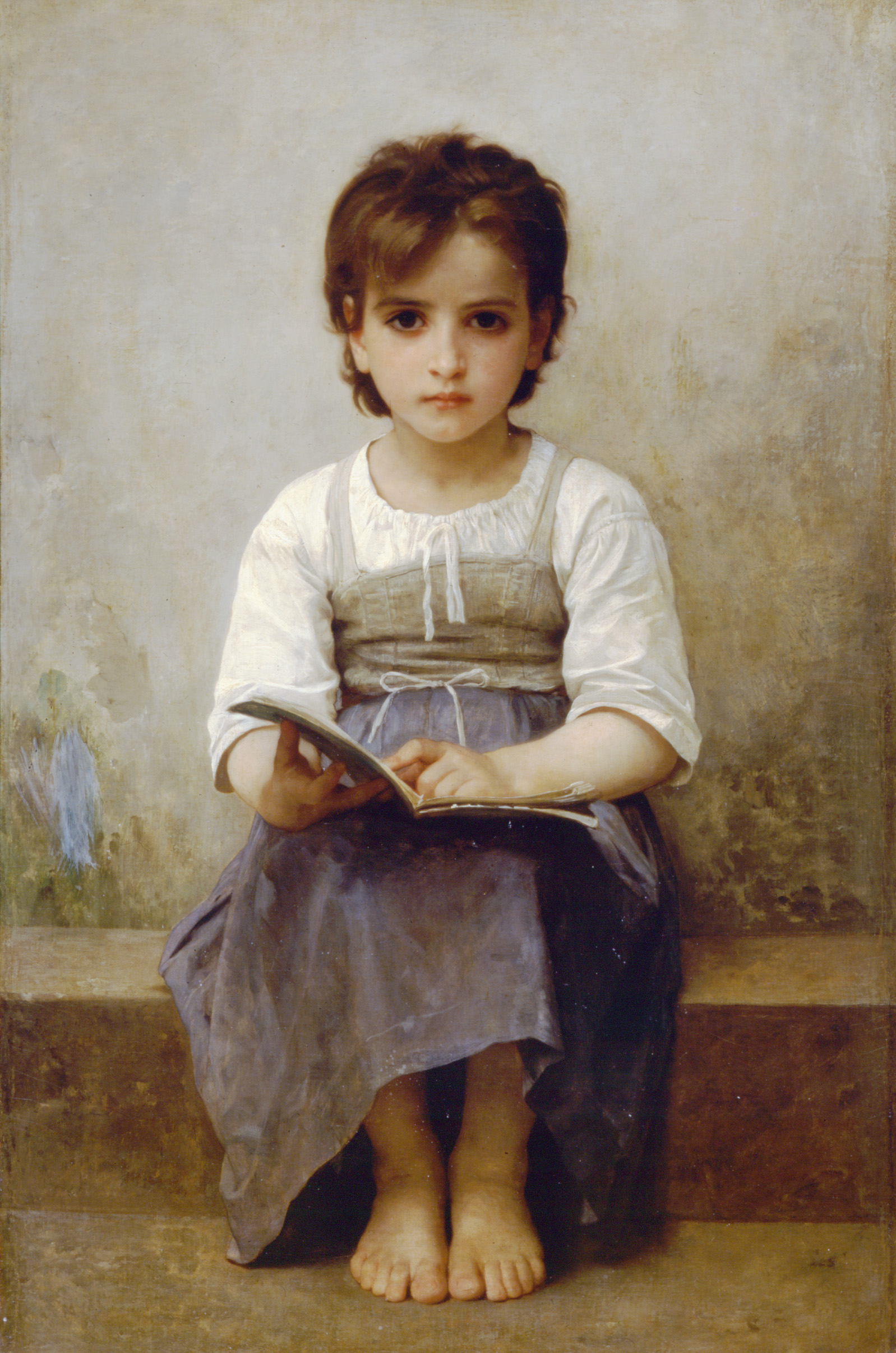 La Leçon Difficile by William-Adolphe Bouguereau, 1884