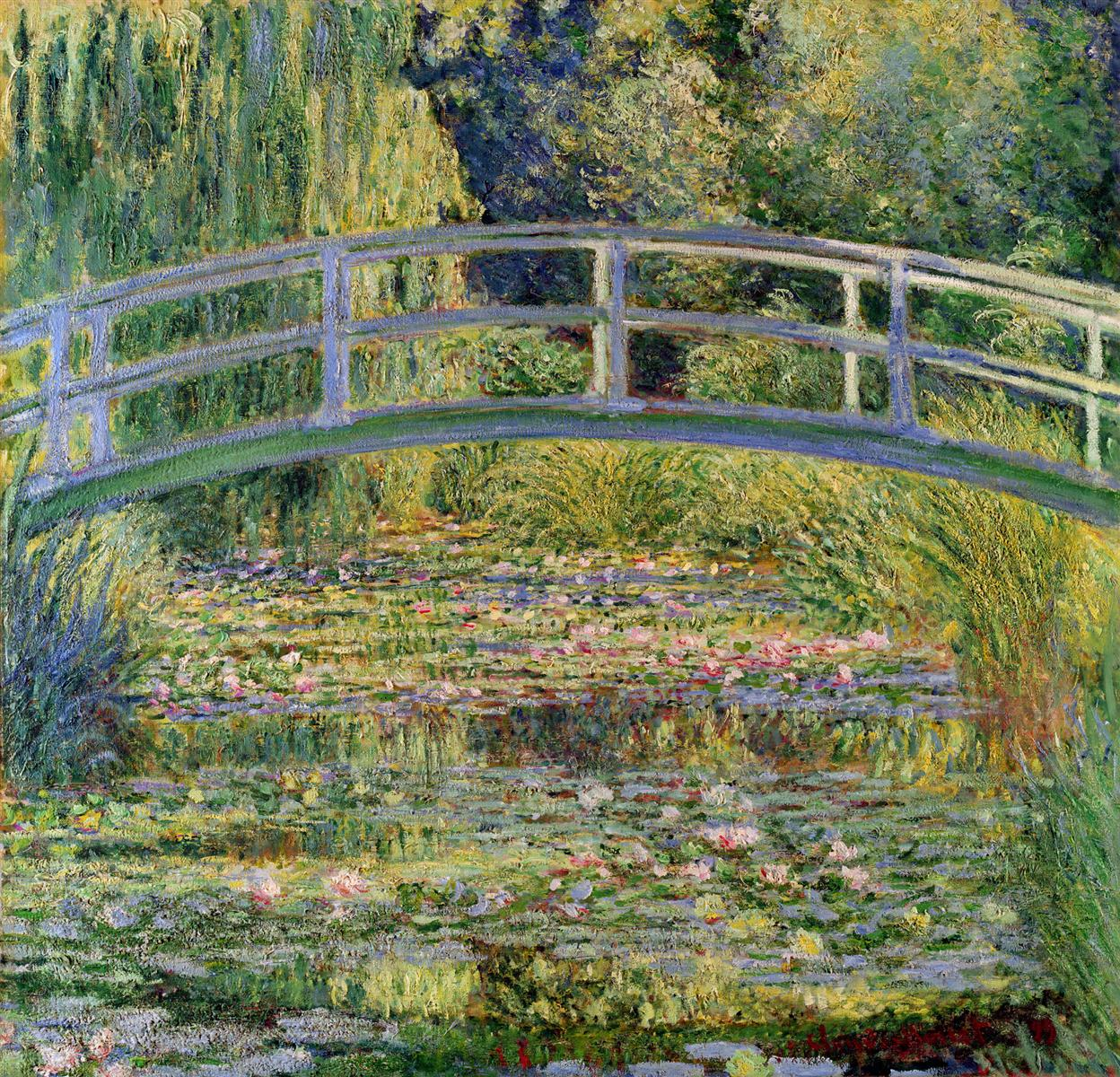 The Japanese Bridge by Claude Monet, 1899