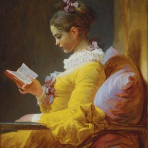 A Young Girl Reading, by Jean Honoré Fragonard, circa 1776