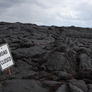 Road Closed: Lava Flow, Hawaii Volcanoes National Park, by Jim Babson