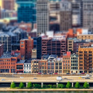 Tilt-Shift, Fort Pitt Boulevard, Pittsburgh, by Timothy Neesam