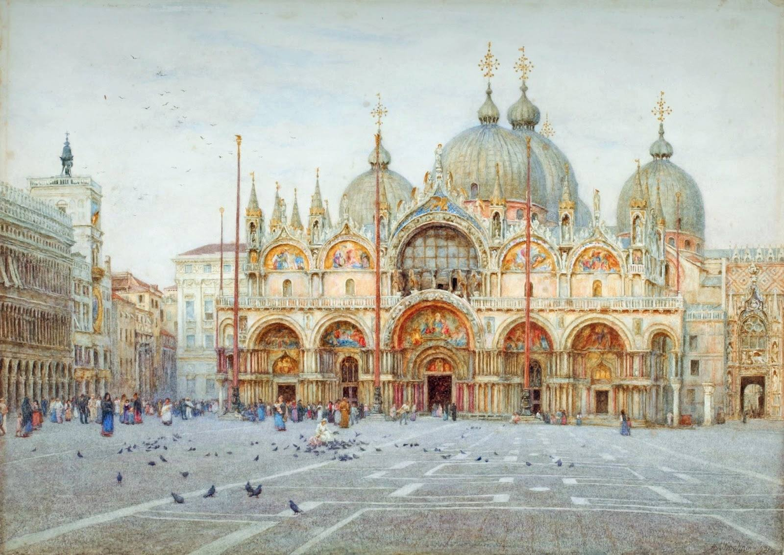 The Basilica San Marco, Venice, by Helen Allingham, Early 20th Century