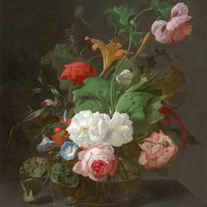 Summer Flowers in a Vase by Rachel Ruysch, 17th Century