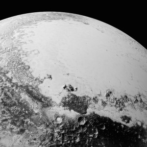 Pluto:  Another Amazing NASA Image, Cthulhu Regio and Sputnik Planum, 2015