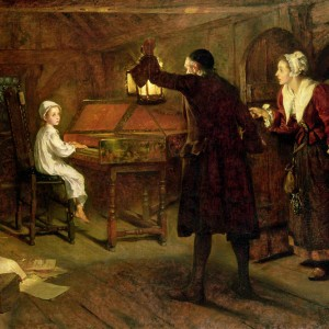 The Child Handel, Discovered by His Parents, by Margaret Isabel Dicksee, 1893