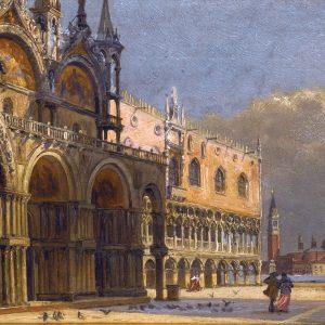 A Windy Day, St. Mark's Square, by Antonietta Brandeis