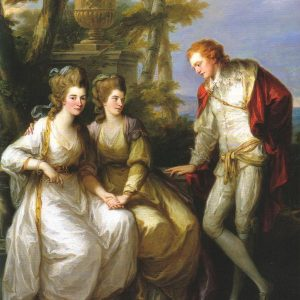Portrait of Lady Georgiana, Lady Henrietta Frances and George John Spencer, Viscount Althorp, by Angelica Kauffman, 1774