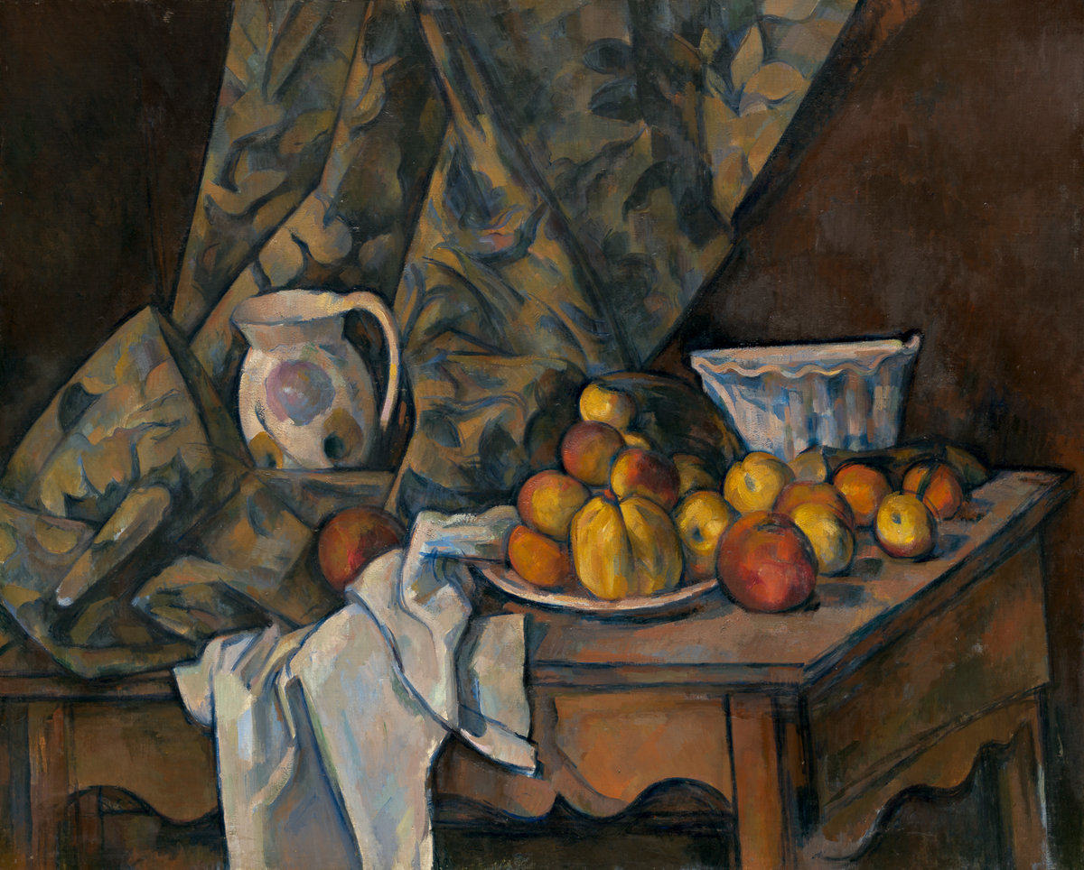Still Life with Apples and Peaches, by Paul Cézanne, 1905