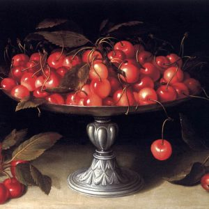 Cherries in a Silver Compote, by Fede Galizia