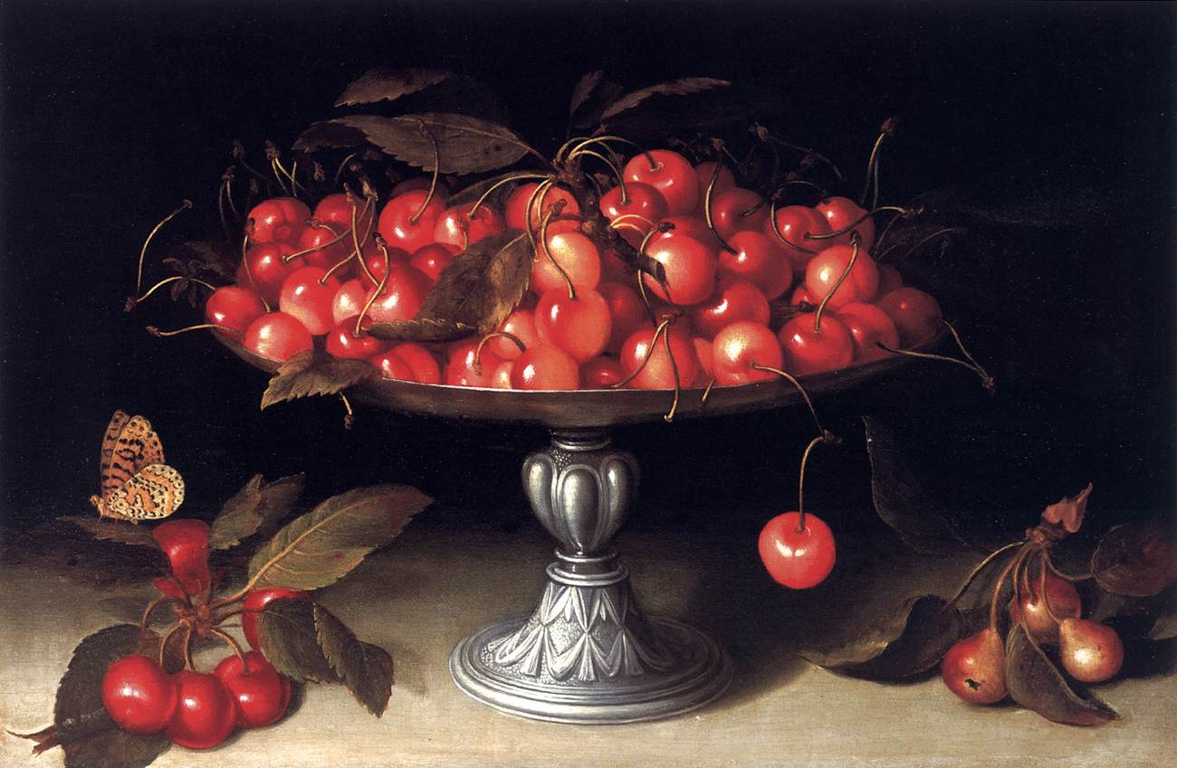 Fede Galizia - Cherries in a Silver Compote