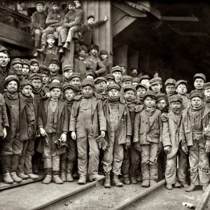 Young Mining Crew, Pennsylvania Coal Company, Photography by Lewis Wickes Hine, 1910