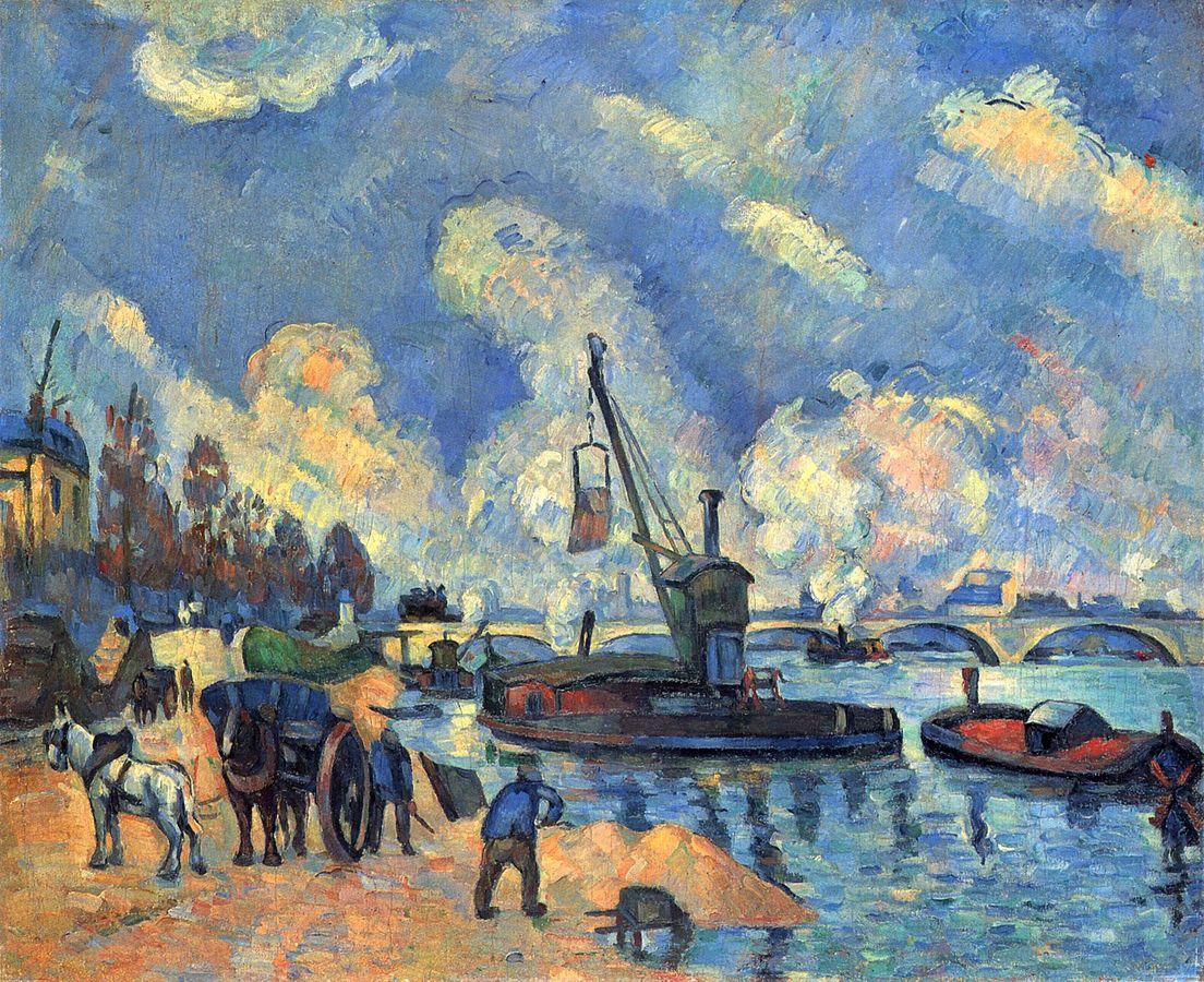 La Seine à Bercy, by Paul Cézanne, 1876-1878