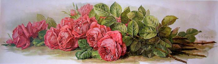 Paul de Longpre - AMERICAN BEAUTY ROSES by Paul de Longpre