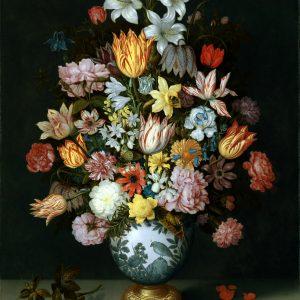 A Still Life of Flowers in a Wan-Li Vase, by Ambrosius Bosschaert the Elder, 1609