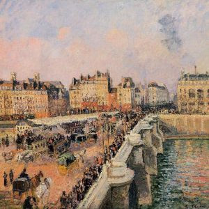 Pont Neuf, Afternoon Sunshine, by Camille Pissarro, 1901