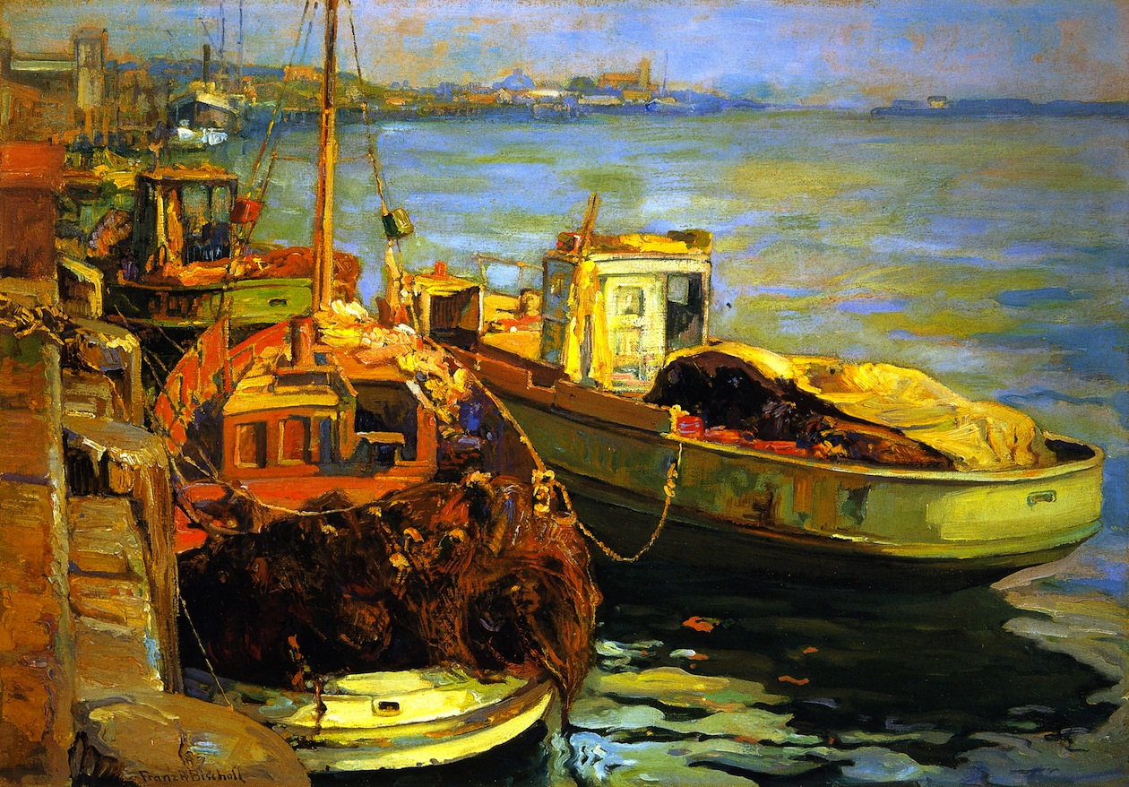 San Pedro Fishing Boats by Franz Bischoff