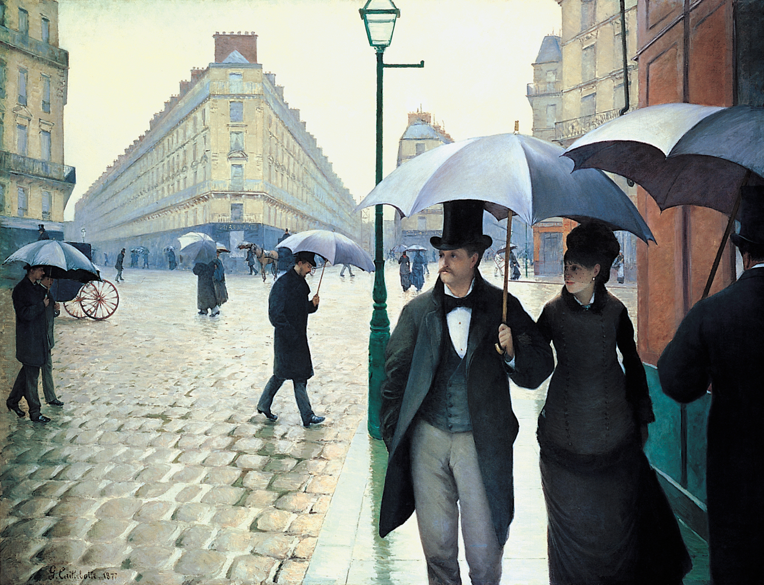 Paris Street, Rainy Day, by Gustave Caillebotte, 1877