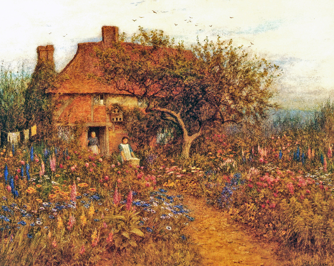 A Summer Garden, by Helen Allingham