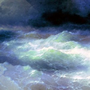 Among the Waves, by Ivan Konstantinovich Aivazovsky, 1898