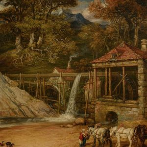 An Overshot Mill in Wales (Aberdulais Mill), by James Ward, 1847