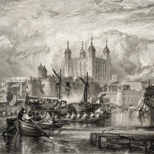 The Tower of London, by Joseph Mallord William Turner (engraved by W. Miller), 1831