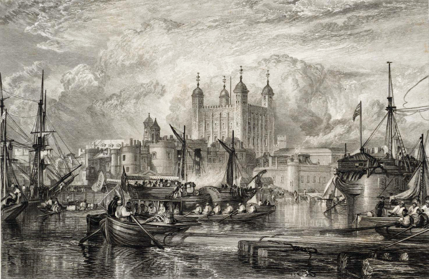 The Tower of London, engraved by W. Miller published 1831 Joseph Mallord William Turner 1775-1851 Transferred from the British Museum 1988