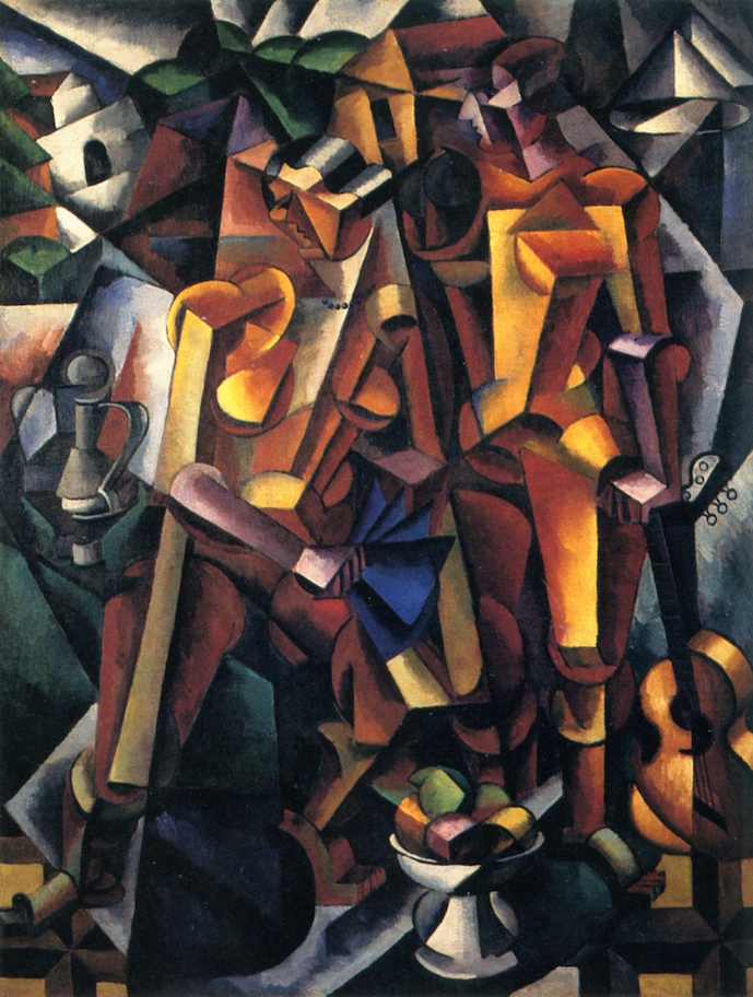 Liubov Popova - Composition with Figures - 1913 - Tretyakov Gallery - Moscow, Russia