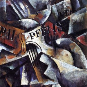 Still Life with Guitar, and other Amazing Abstract Paintings by Liubov Popova, circa 1913-1915