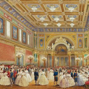 The Ballroom, Buckingham Palace, London, 17 June 1856, by Louis Haghe