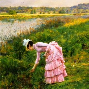 Picking Wildflowers, by Marie François Firmin-Girard