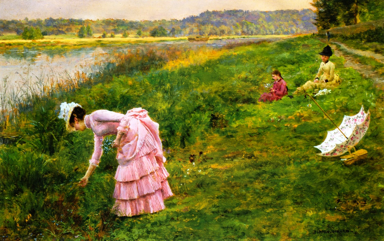 Picking Wildflowers, by Marie Francois Firmin-Girard