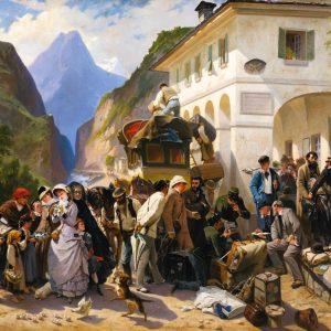La Douane Italienne au Simplon, by Pierre François Eugène Giraud, 1880
