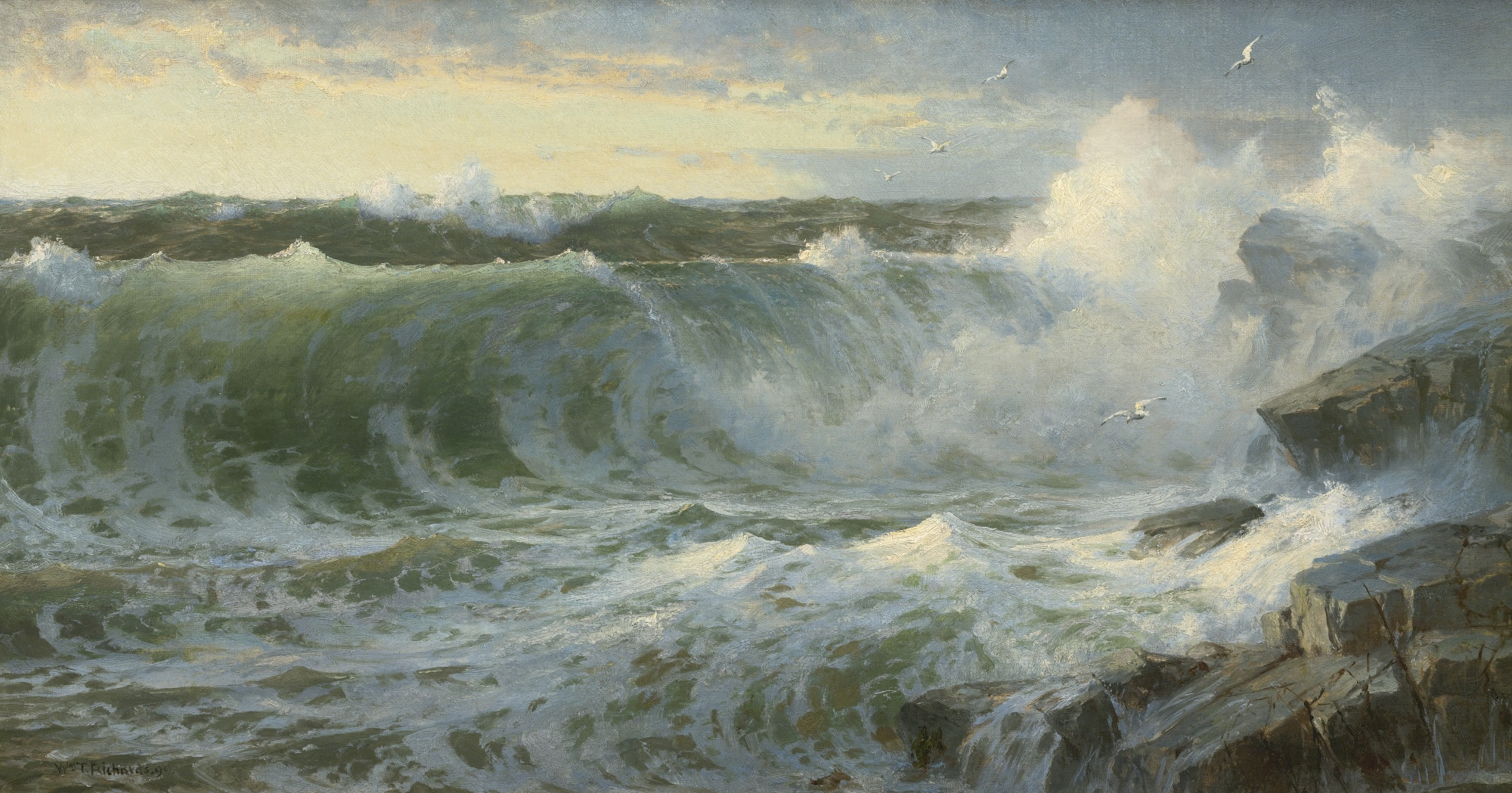 Rocky Surf off Rhode Island, by William Trost Richards, 1899