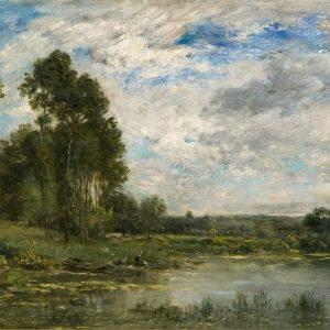 Lavandières au bord de l'Oise, by Charles François Daubigny, 1874
