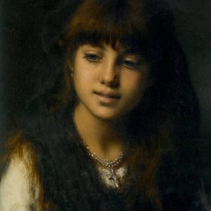 Portrait of a Young Girl, by Alexei Alexeievich Harlamoff, 1884